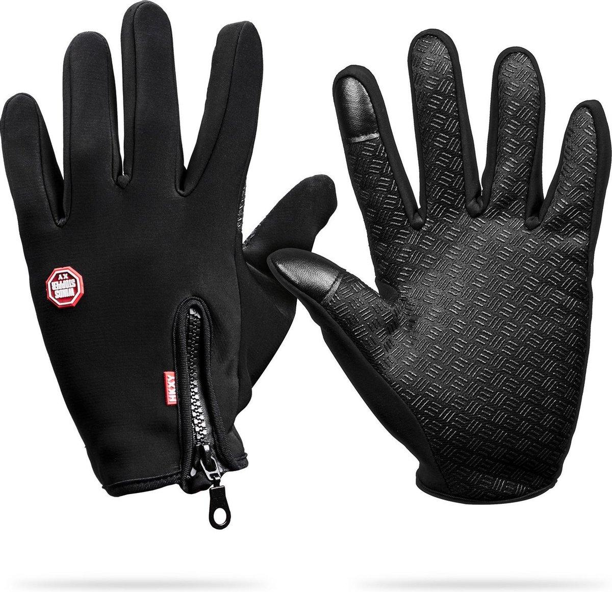 Waterafstotend & Windproof Thermische Touchscreen Handschoenen I Zwart I MEDIUM