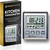 MostEssential Premium Keuken Thermometer - BBQ Thermometer - Suikerthermometer - Oventhermometer - Vlees Thermometer - Braad Thermometer - Thermometer Koken - Grijs