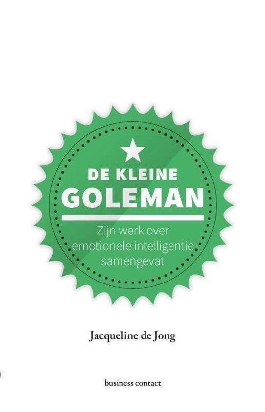 Boek cover Kleine boekjes - grote inzichten 1 -   De kleine Goleman van Jacqueline de Jong (Hardcover)