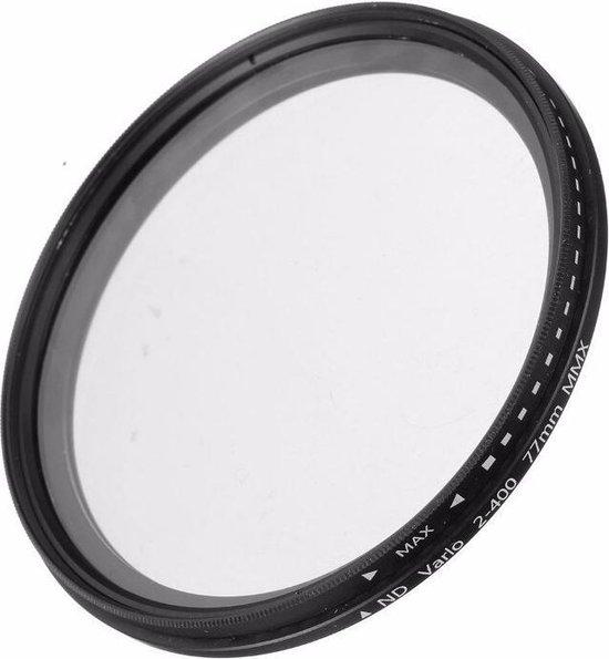 62mm variabele ND fader ND2-ND400 filter grijsfilter