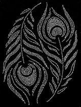 Pauw Veren Strass Applicatie 28,5 x 20 cm