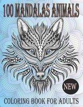 100 Animal Mandalas Coloring Book For Adults