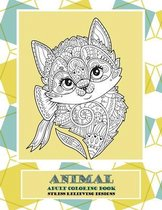 Adult Coloring Book Stress Relieving Designs Animal