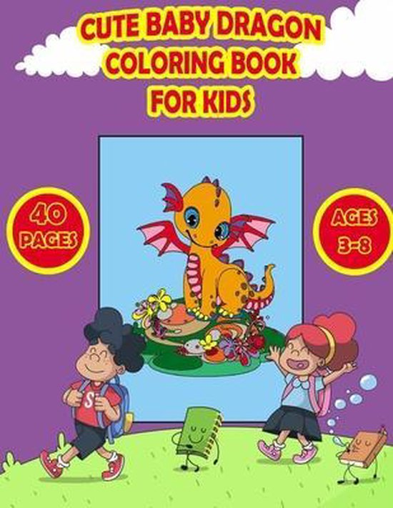 Cute Dragons Coloring Book for Kids