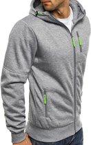 Grijze Hoodie heren met capuchon - Met rits – Light Sport Sweater