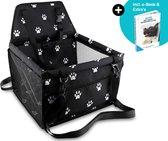 Autostoel Hond Opvouwbare Waterdichte Hondenmand Auto Onderweg– Autobench voor Honden – Hondenstoel – Automand - Incl. e-Book | Bal | Deken | Opbergtas - Quzi®