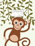 Graph Composition Notebook: Grid Paper Notebook: Large Size 8.5x11 Inches, 110 pages. Notebook Journal: Green Leafs Monkey Workbook for Preschoole