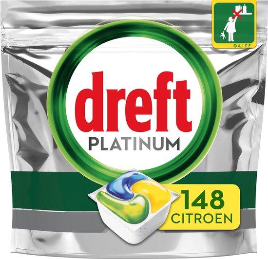 Dreft Original All In One Lemon - Voordeelverpakking 4x37 stuks - Vaatwastabletten