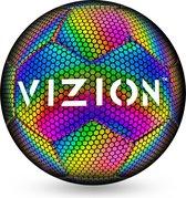 VIZION™ Reflecterende Voetbal | Lichtgevend | Holografisch | Glow in the Dark | Verjaardag Cadeau idee | Kinderen en Volwassenen | Maat 5