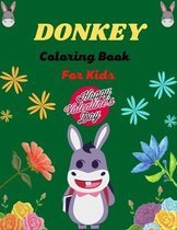 DONKEY Coloring Book For Kids Happy Valentine's Day