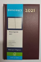 Afbeelding van Bureau Agenda 2021 - BORDO 1 week op 2 paginas (21cm x13cm)
