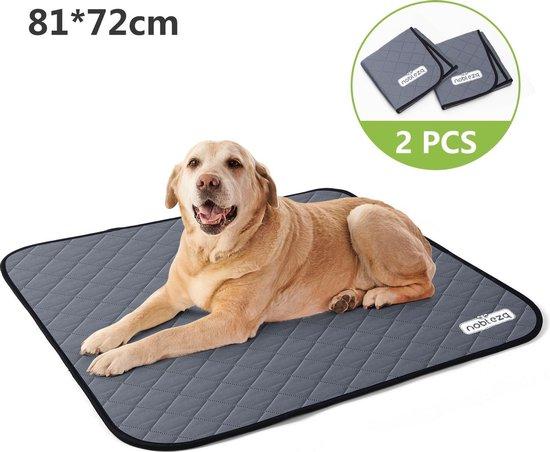 Nobleza Wasbare puppy training Pads - 2 stuks - Herbruikbare Hondentoilet - 81 x 72 cm