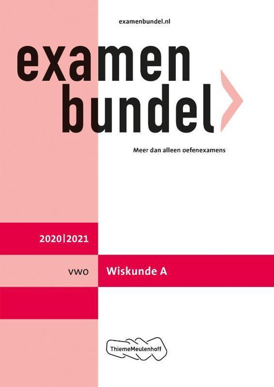 Boek cover Examenbundel vwo Wiskunde A 2020/2021 van  (Paperback)