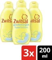 Zwitsal Baby Goedemorgen Haarlotion - 3 x 200 ml - Voordeelverpakking