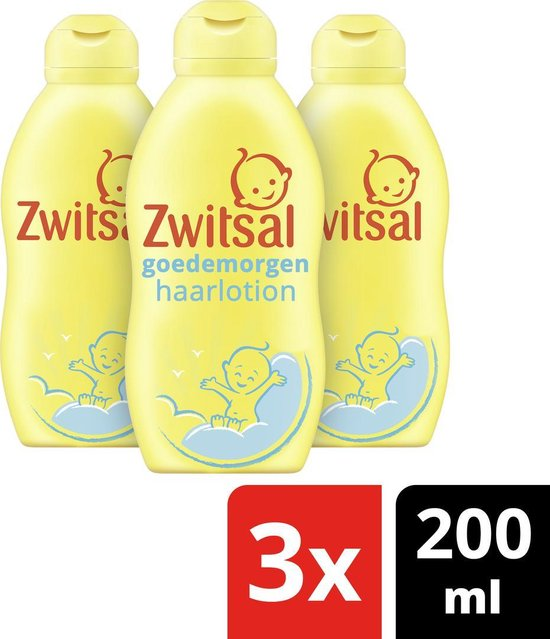 Zwitsal Goedemorgen Haarlotion - 3x200 ml - Baby