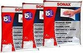 180 x SONAX polijstvliesdoeken, polijstdoek, vachtdoek, autoverzorging, lakverzorging