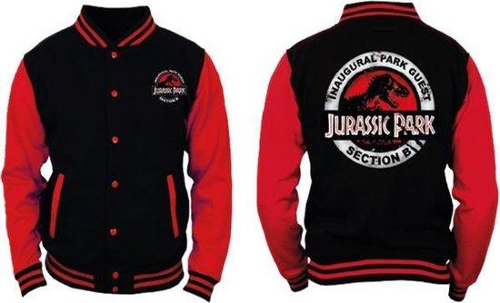 Jursssic Park - Black and Red Men's Jacket - S