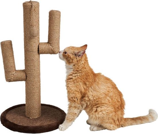 krabpaal MET KATTENSPEELTJES - krabpaal voor katten - krabpaal voor grote katten - krabpaal cactus - kattenspeelgoed - kattenspeeltjes