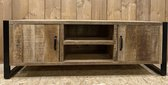 Tv kast Jasmine - 2x deur - 2x vak - 160x45x55 cm - mangohout