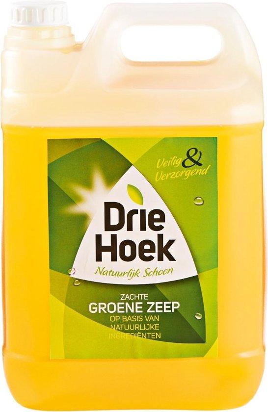 Driehoek Vloeibare Groene Zeep 1 x jerrycan 5 Liter