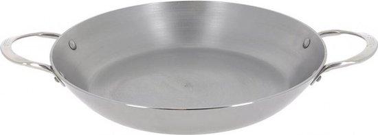 Paellapan Mineral B 32 cm staal zilver / De Buyer