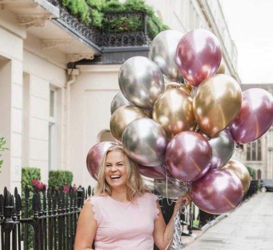 Ballonnen Goud - Zilver - Paars / Lila | Effen | 9 stuks | Baby Shower - Kraamfeest - Verjaardag - Geboorte - Fotoshoot - Wedding - Marriage - Birthday - Party - Feest - Huwelijk - Jubileum - Event - Decoratie | Traktatie – Versiering