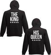 Hippe set Hoodies sweaters | King & Queen |Valentijn kado tip |maten S-M-L-XL-XXL