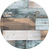 Wicotex Rond Tafelzeil - 160cm - Hout Blauw