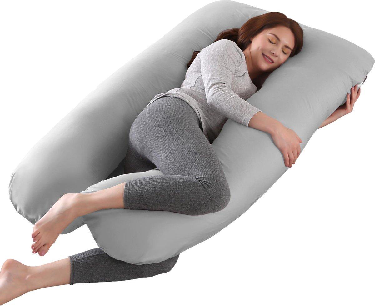 Litollo® Zwangerschapskussen XXL - Voedingskussen - Lichaamskussen - Body pillow - 280cm - Afneembar