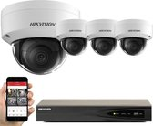 KIT HIKVISION 8MP SYSTEM 4CH CHANNEL NVR IP POE 8 MP DS-2CD2185FWD-I(S) DOME CAMERA DIGITAL NETWORK KIT TRADE INDOOR OUTDOOR NIGHT VISION TRADE UK DS-7604NI-K1/4P (2TB SURVEILLANCE HDD)