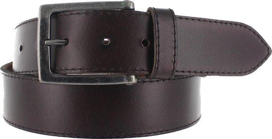 Leatherbelove – Casual lederen broekriem – Bruin – 115 cm