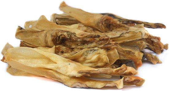 Gedroogde Konijnenoren Hond 300 gram - Hondensnack - Kauwsnack - Konijn - Hondenbot - Kauwstaaf