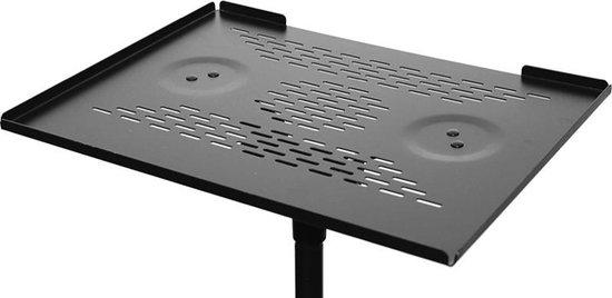 Laptop + beamer standaard zwart | Dubbele standaard | Verstelbare hoogte & hellingshoek | Staal | Beamerstandaard| Laptop