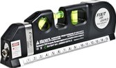 Laserwaterpas – 3 Verschillende Lasers – Inclusief Rolmaat 2,50 cm - Klussen - Waterpas met Laser - Torpedo waterpas