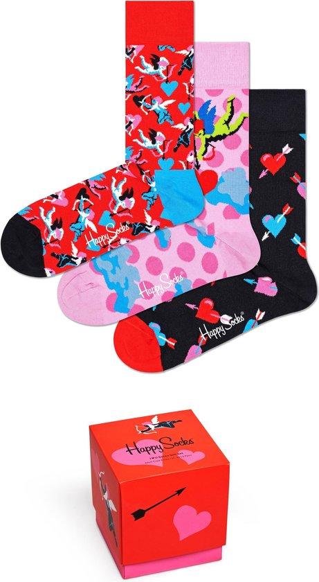 Happy Socks XLOV08-4400 I love You 3-pack Gift Box - Maat 41-46