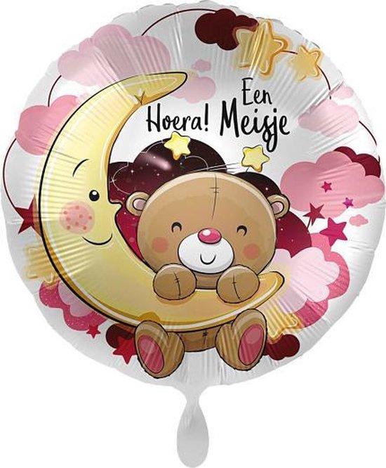 Everloon - Folieballon - Hoera! Een Meisje - 43cm - Voor Geboorte Baby Meisje
