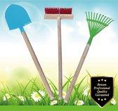 Benson Tuin gereedschap - Kinder set - Hark - Schep - Borstel