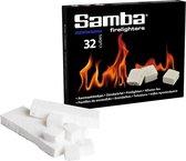 Samba Aanmaakblokjes Wit - Kerosine Petroleumbasis - 32 Stuks
