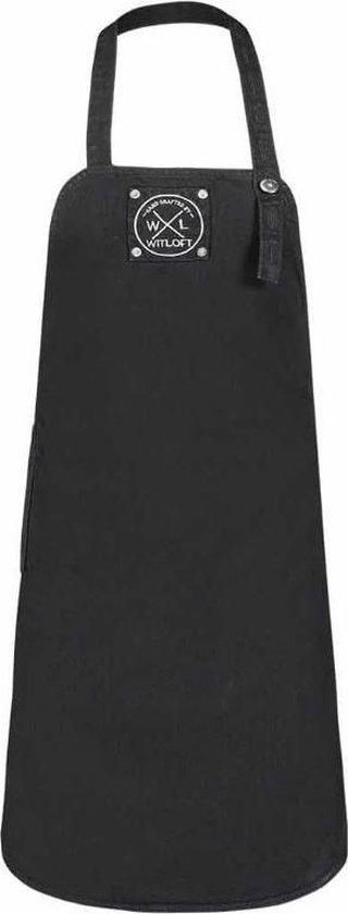 Witloft Keukenschort Denim 75 X 60 Cm Zwart