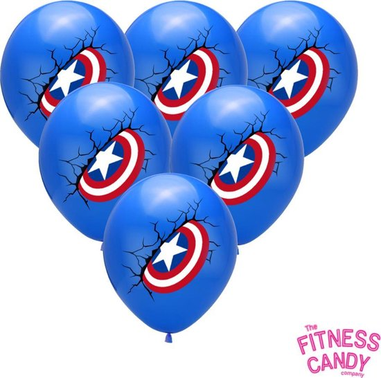 Captain America Ballonnen - Set van 6