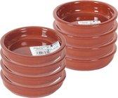 Set van 8x tapas bakjes/schaaltjes Bilbao 14 cm en 10 cm - Tapas/creme brulee ovenschaaltjes/serveerschaaltjes