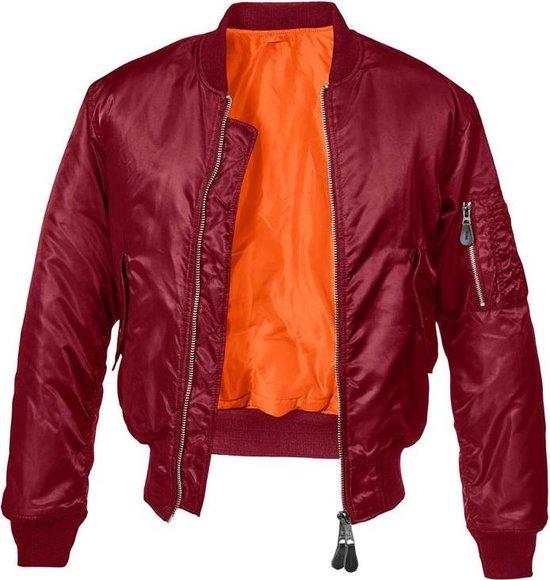 Urban Classics Bomber jacket -2XL- MA1 Bordeaux rood