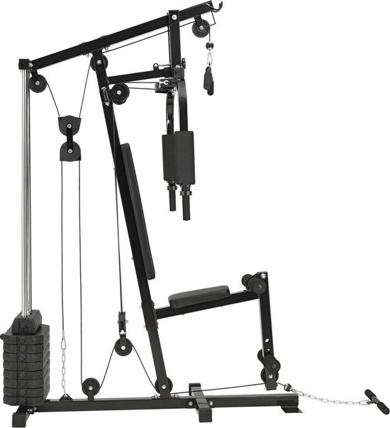 halterbank Multifunctionele set 40 kg halterschijven Home Gym Workout Fitness Station krachtstation homegym