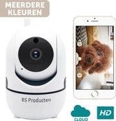 Beveiligingscamera - Huisdiercamera - WiFi - Beweeg en geluidsdetectie - Werkt met app - Wit