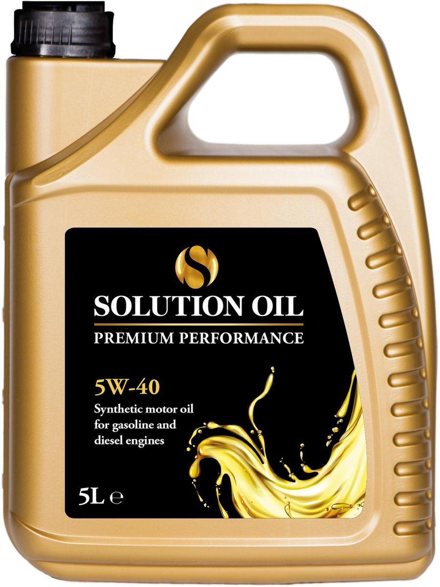 Motorolie   Solution Oil Premium Performance 5W40 LL   5 Liter   Brandstofbesparende Motorolie