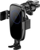 O.M.G® Smart Telefoonhouder Zwart 15W Fast Charging - Telefoonhouders auto - Telefoonhouder - Automatische Telefoonhouder - Draadloze oplaadhouder - Snel oplader