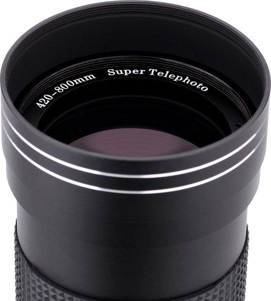 Lightdow 420-800mm F8.3-16 super telelens zoomlens voor Canon EOS EF body's