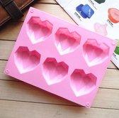 Siliconen mal harten - siliconen 3d hart Bakvorm -tiktok bakvorm -geo hart -geo heart - chocolade -diamant -cake -bakvorm hart - siliconen hart zeep -Bonbons - Mold - Bakvormen - Koken - Chefkok - Bakken - Keukenaccessoires - Cadeau - Gift