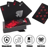 MyStand® Luxe Speelkaarten Waterdicht   Special Edition Pokerkaarten - Poker Kaartspel - Spel Kaarten   Rood/Zwart