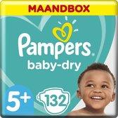 Pampers Baby-Dry Luiers - Maat 5+ (12-17 kg) - 132 stuks - Maandbox